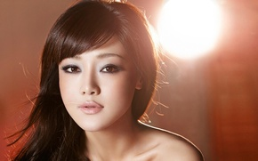 Picture face, actress, lighting, beautiful, Chinese, Deng Jia