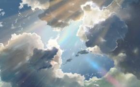 Picture The sun, The sky, Clouds, Rain, Anime, Sky, Makoto Xingkai, Anime, Rain, Wallpaper, The Wallpapers, …