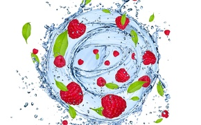 Picture water, squirt, raspberry, fruit