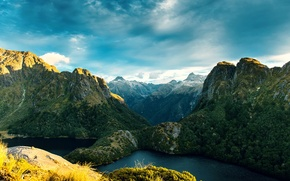 Picture mountains, rocks, New Zealand, New Zealand, fjords, Fiordland National Park
