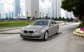 Picture car, bmw, sky, gray