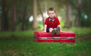 Picture look, background, mood, widescreen, Wallpaper, child, boy, wallpaper, suitcase, sitting, widescreen, background, boy, mood, child, …