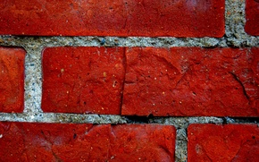 Wallpaper brick, wall, red