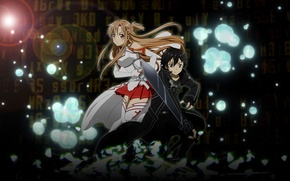 Wallpaper sword, sword, weapon, sword art online, kirito, sword art online, sao, kirito, asuna, Asuna