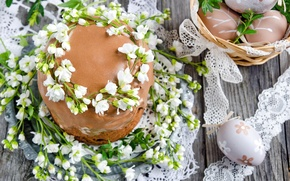 Picture flowers, spring, Easter, cake, cake, flowers, glaze, spring, Easter