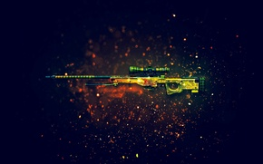 Wallpaper weapons, background, rifle, sniper, CS:GO