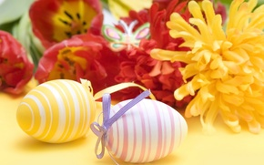 Picture flowers, holiday, eggs, Easter, raytest