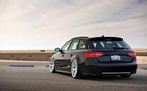 Picture Audi, Audi, side, black
