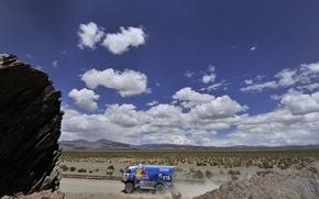 Picture Clouds, Blue, Truck, Red Bull, KAMAZ, KAMAZ, Dakar, Dakar, Rally