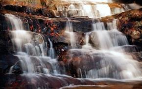Picture nature, stones, waterfall, nature, waterfall
