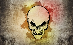 Picture style, patterns, skull