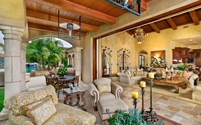 Picture living room, home, luxury, ranch, santa fe