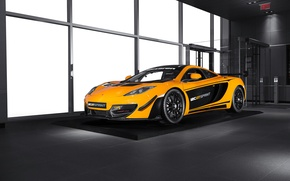 Picture McLaren, front, orange, MP4-12C, Sprint