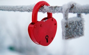 Picture cold, winter, snow, red, background, castle, Wallpaper, mood, heart, blur, wallpaper, heart, widescreen, winter, background, ...