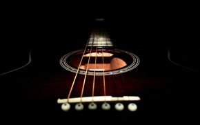 Picture black, guitar, strings