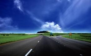 Picture clouds, Road, crossroads