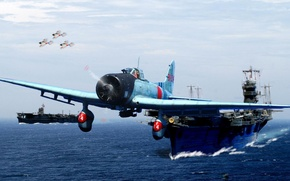 Picture the carrier, The type 99, Aichi, Japanese carrier-based dive bomber, D3A, Val