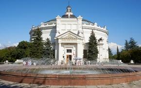 Picture nature, house, the building, panorama, fountain, Museum, architecture, Crimea, Defense Of Sevastopol, Sevastopol