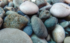 Picture beach, macro, nature, stones