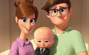 Wallpaper HD, sugoi, Jimmy Kimmel, comedy, Boss Baby, cute, kawaii, baby, DreamWorks Animation, 20th Century Fox, ...