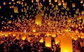 Picture night, lights, lanterns