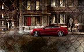 Picture night, the city, mesh, Mercedes, amg, Mercedes Benz C63