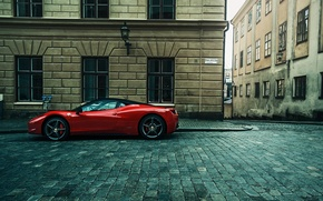 Picture the city, street, supercar, Ferrari, ferrari 458 Italia