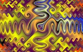 Picture line, reflection, pattern, paint, symmetry
