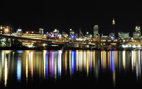 Wallpaper the city, lights, Australia, water, Australia, skylines, lighs