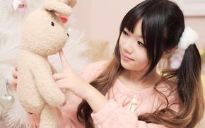 Wallpaper face, mood, hair, doll, Asian
