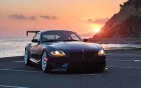 Picture car, auto, sunset, BMW, bmw z4