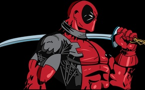 Picture sword, red, marvel, deadpool