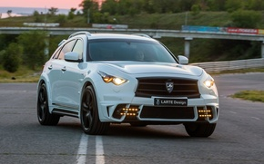 Picture tuning, white, infiniti, qx70