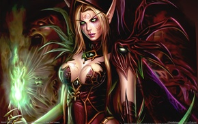 Wallpaper Bloody Elf, Chest, WoW, World of Warcraft, Breast