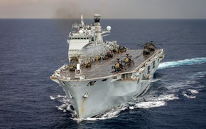 Picture weapons, army, Navy, Helicopter Carrier, HMS Ocean (L12)