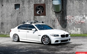 Picture BMW, white, 5 series, f10, vossen, 535i