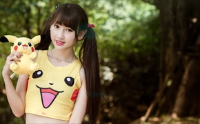 Picture Girl, toy, smile, mood, doll, asian girls