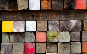 Picture wood, texture, brick
