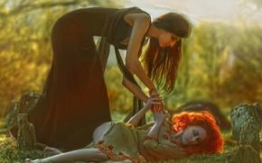 Picture fantasy, girls, art, Agnieszka Lorek, Louise Vattenfall, Save me, Andrea Model