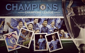 Wallpaper gold, football, the final, Cup, champions, Chelsea, Champions League, UEFA, chelsea