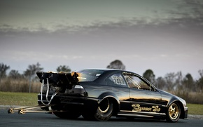 Picture gold, Black, drag racing