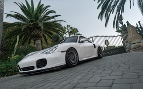 Picture Porsche, White, 996, Rotiform, boden, Turbo Accuair
