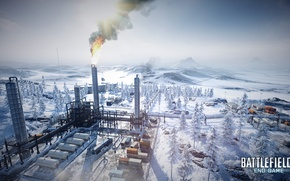 Picture winter, plant, end game, battlefield3