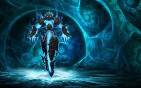 Wallpaper xerath, Dauch, the game, chain, lights, armor, league of legends
