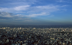 Picture the sky, the city, home, Japan, Tokyo, the view from the top