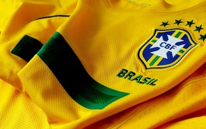 Wallpaper T-shirt, yellow, Brasil, Brazil