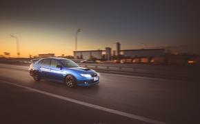 Picture background, Wallpaper, Subaru, Impreza, car, sedan, blue