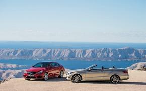 Picture Mercedes-Benz, red, cabrio, 2013, E-Clas, baige