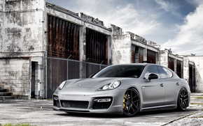 Wallpaper Auto, Panamera, Tuning, Machine, Tuning, Brick, Porsche, Wall