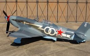 Picture fighter, Soviet, single-engine, The Yak-3, Yak-3